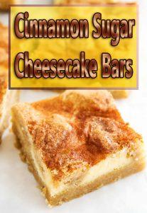 Cinnamon Sugar Cheesecake Bars Video Recipe