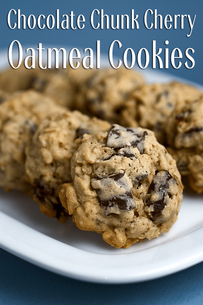 Chocolate Chunk Cherry Oatmeal Cookies