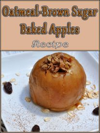 Oatmeal-Brown Sugar Baked Apples