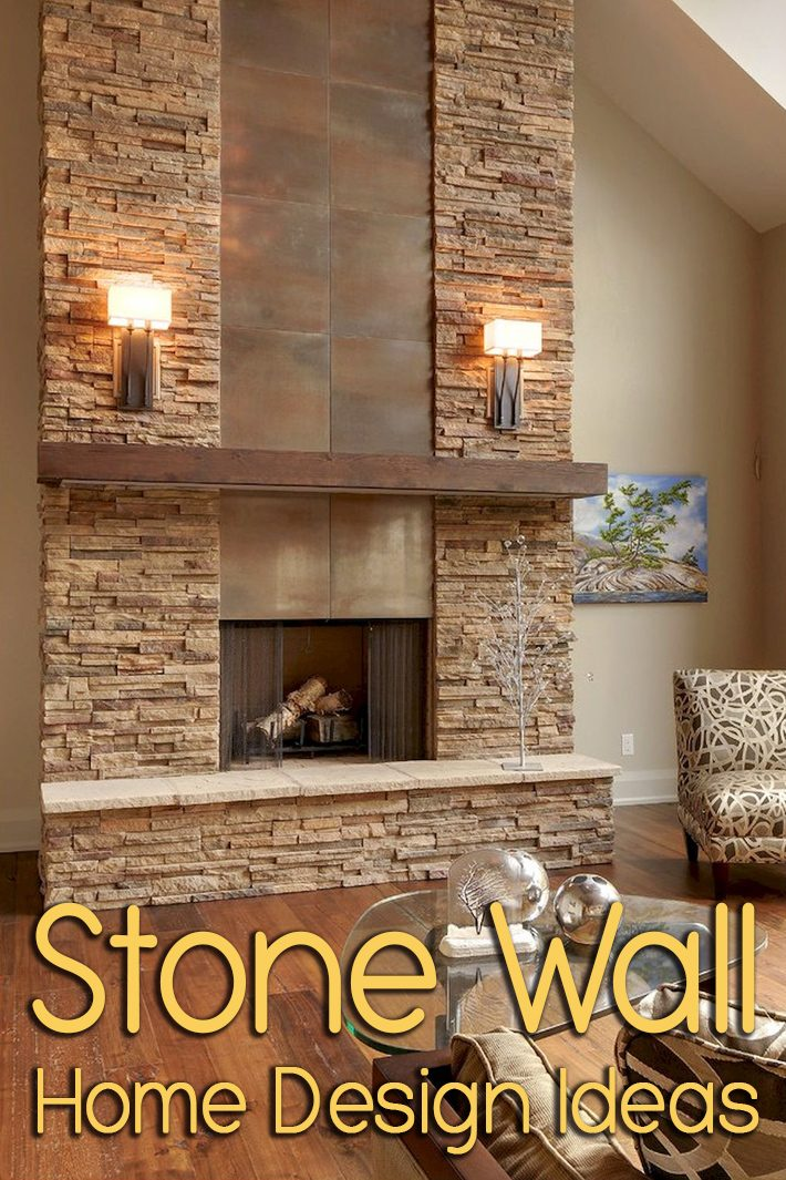 Stone Wall Home Design Ideas