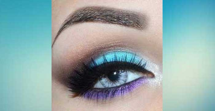 Turquoise and Violet Makeup Pictorial