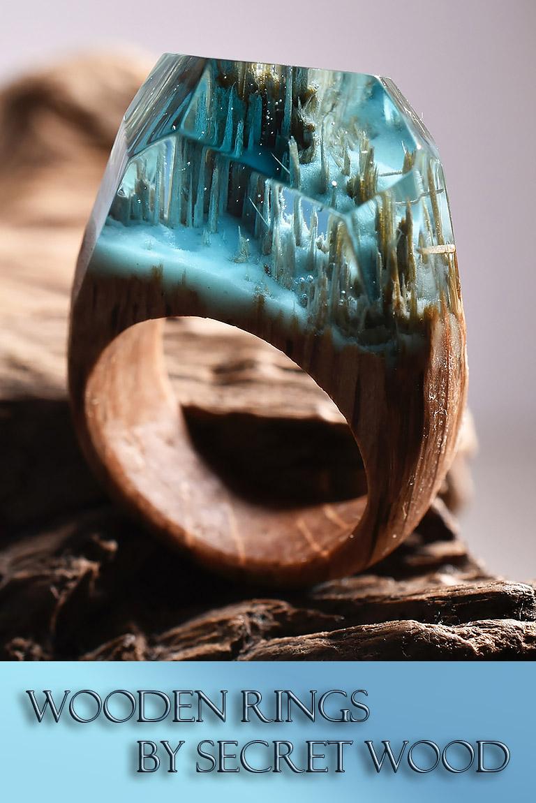 Secret Worlds Inside Wooden Rings By Secret Wood