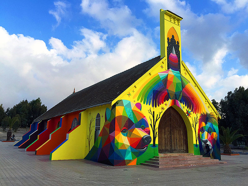 Abandoned-Church-Transformed-With-Colorful-Graffiti-3