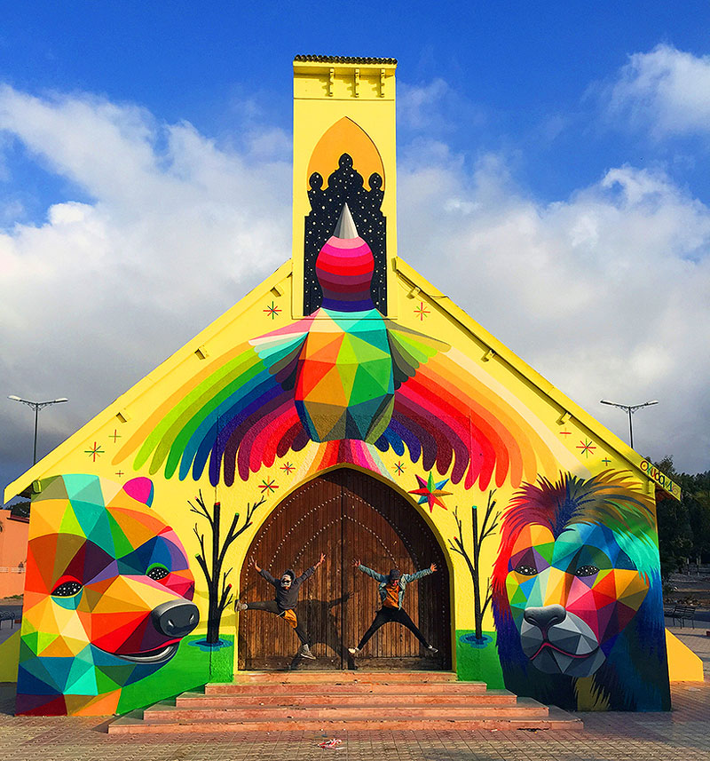 Abandoned Church Transformed With Colorful Graffiti In Morocco 4