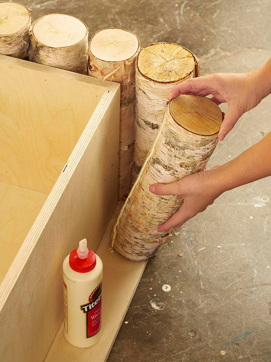Diy Birch Log Coffee Table Quiet Corner
