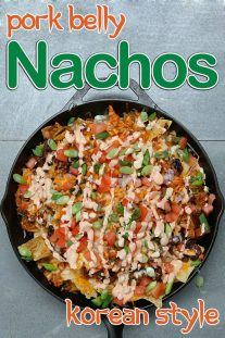 Korean Style Pork Belly Nachos