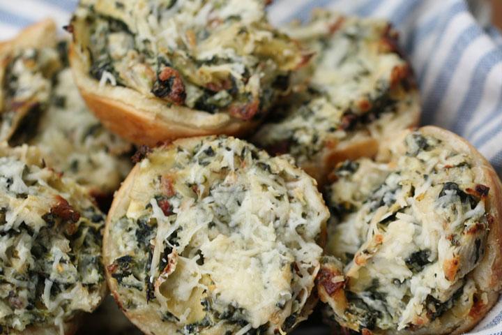 Spinach Artichoke Cups