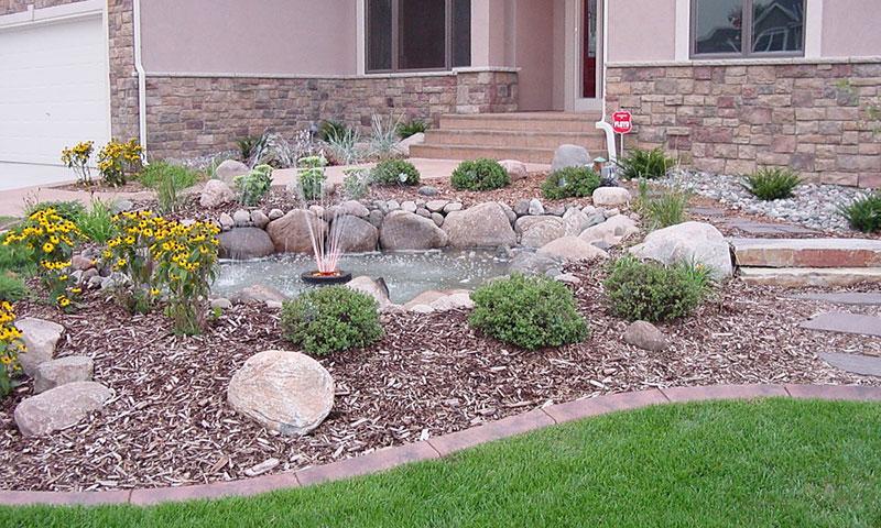 15 Stone Landscaping Ideas - Quiet Corner on Rock Backyard  id=42064