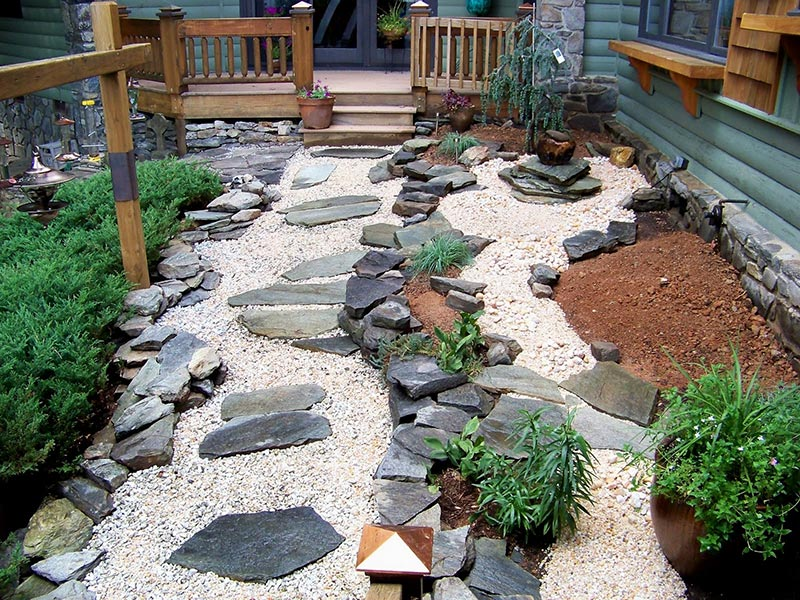 15 stone landscaping ideas quiet corner Backyard landscaping ideas with stones