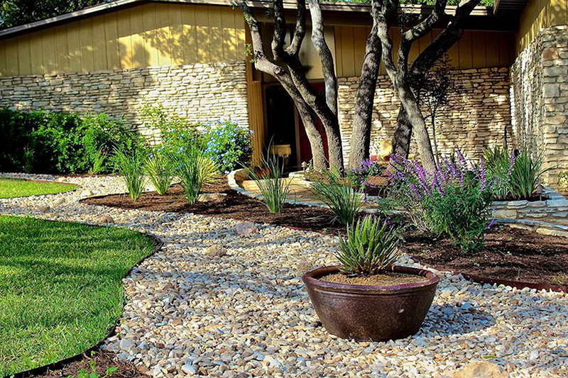 15 Stone Landscaping Ideas Quiet Corner