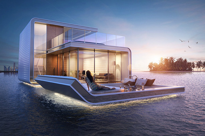 The Floating Seahorse – Floating Apartments With Underwater Rooms