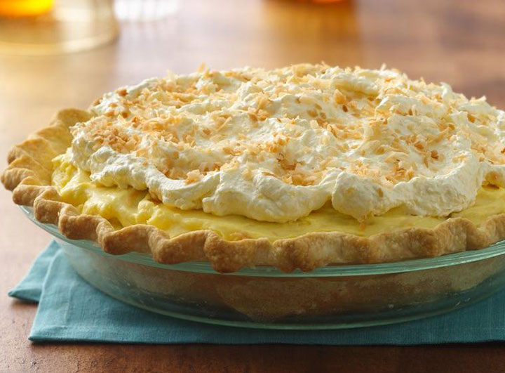 Tropical Mango Banana Pie