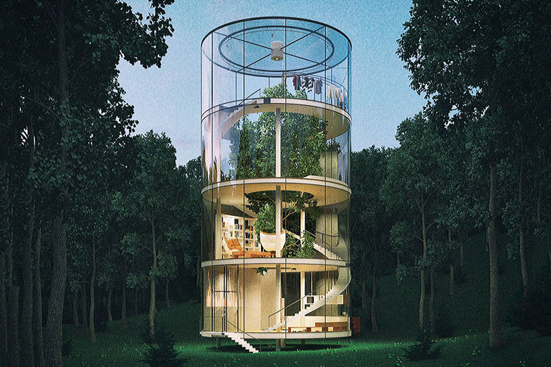 Tubular-Glass-House-Built-Around-Tree-05