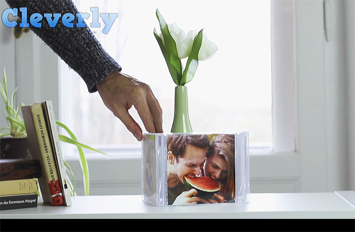 DIY Photo Cube Made From CD Cases