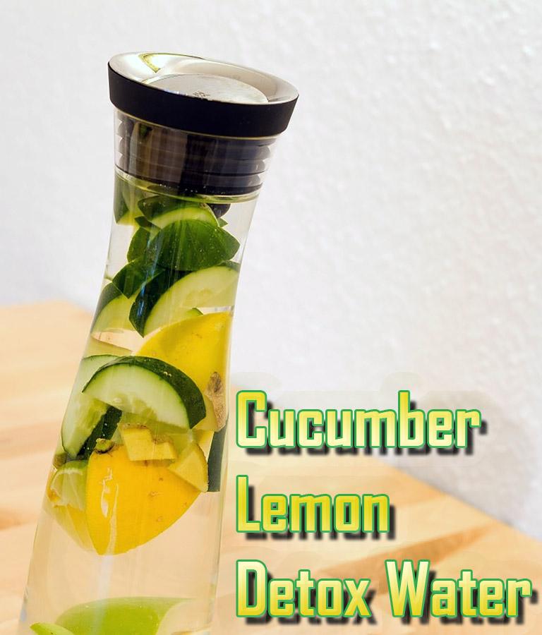 Cucumber Lemon Detox Water