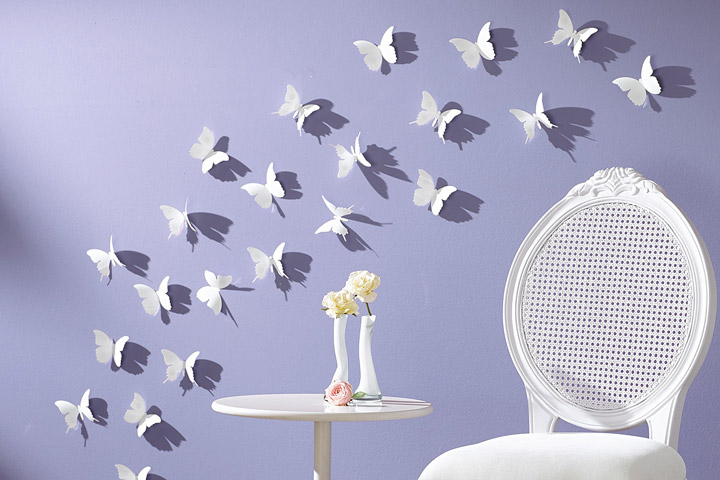 Butterfly Pattern Wall Decor