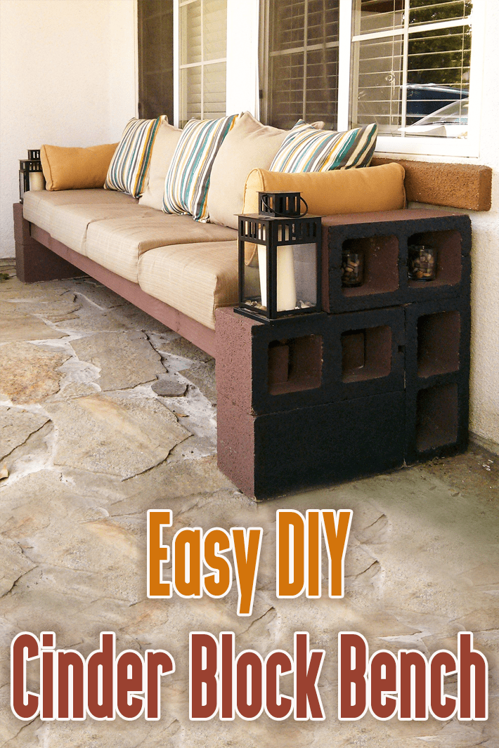 Easy DIY Cinder Block Bench