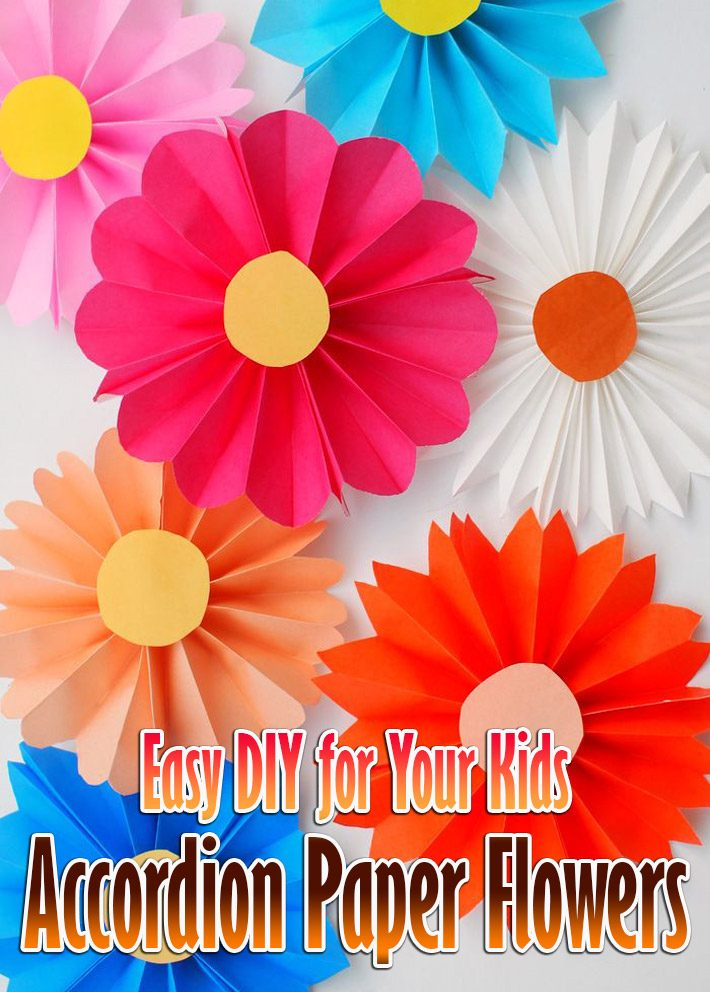 Easy DIY for Your Kids – Accordion Paper Flowers