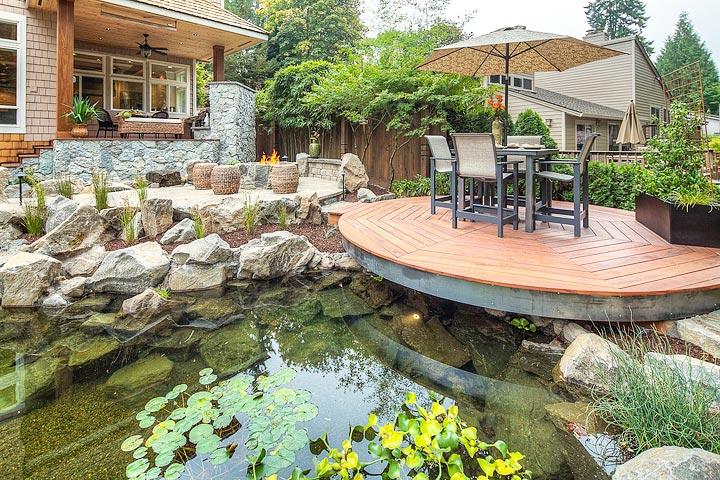 Inspiring backyard pond ideas quiet corner for Diy backyard pond ideas