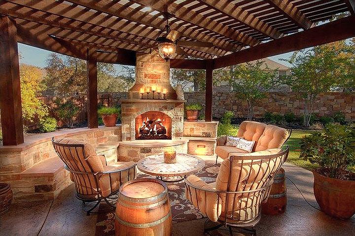 Inspiring Outdoor Fireplace Ideas Quiet Corner