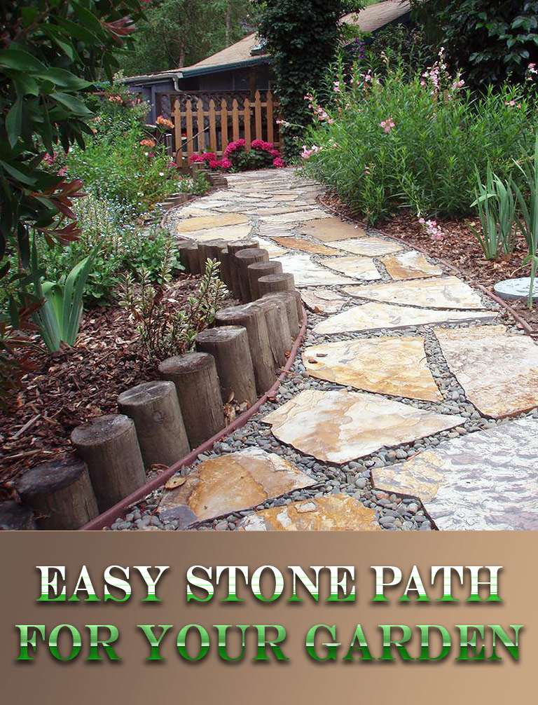DIY – Easy Stone Path for Your Garden