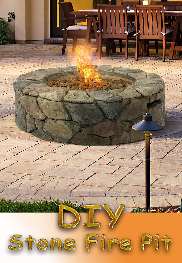 Quiet Corner Diy Stone Fire Pit For Your Garden Quiet Corner