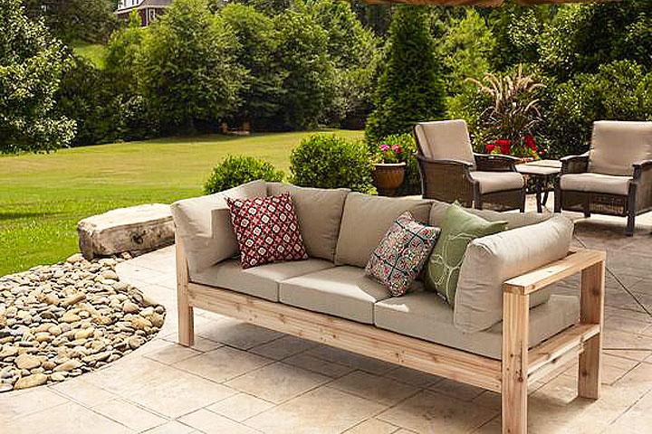 Quiet Corner Diy Summer Outdoor Sofa Quiet Corner