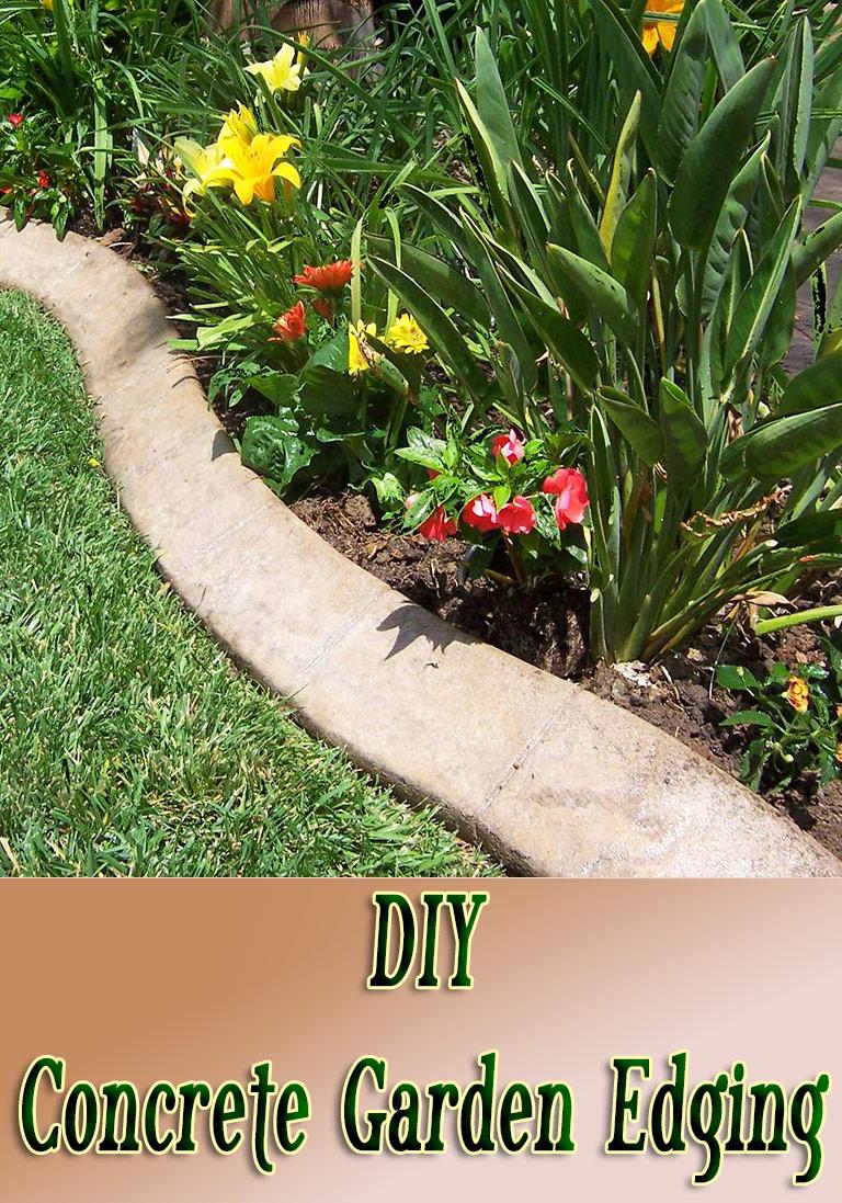 DIY - Concrete Garden Edging