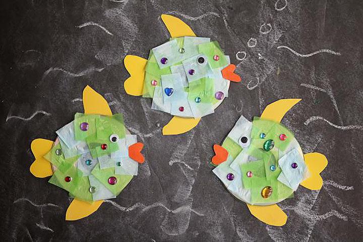 DIY: Recycled CD Fish Kid Craft