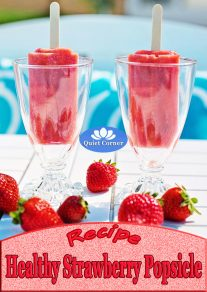 Healthy Strawberry Popsicle