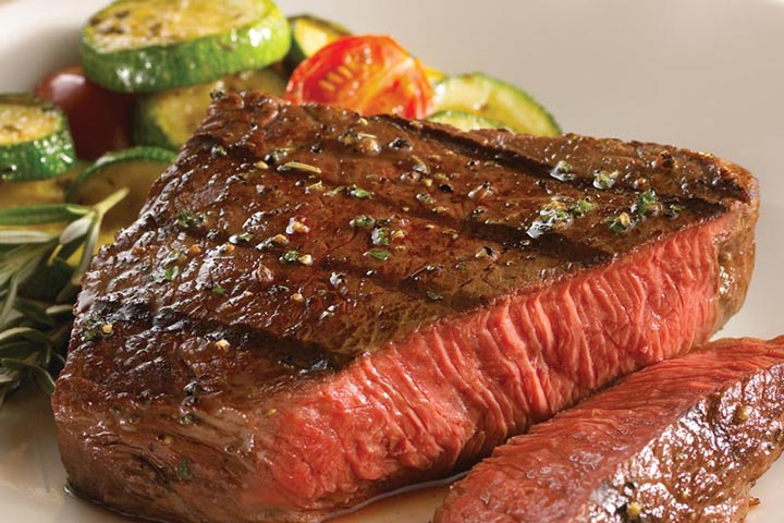 Striploin Steaks and Foil-Wrapped Vegetables