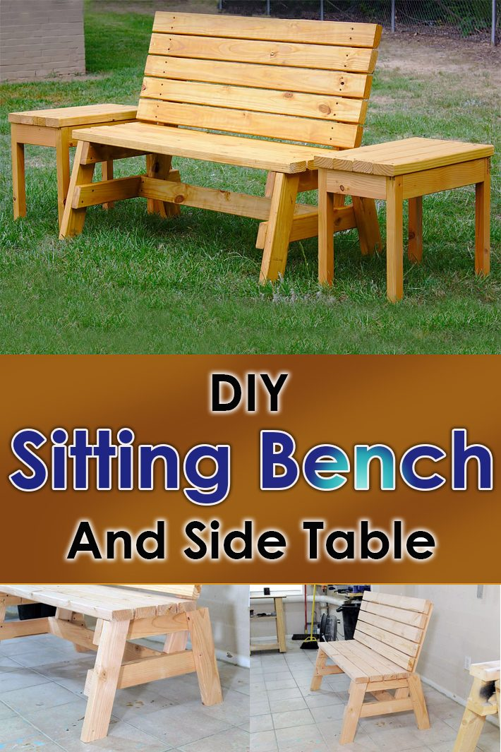 DIY – Sturdy 2×4 Sitting Bench And Side Table