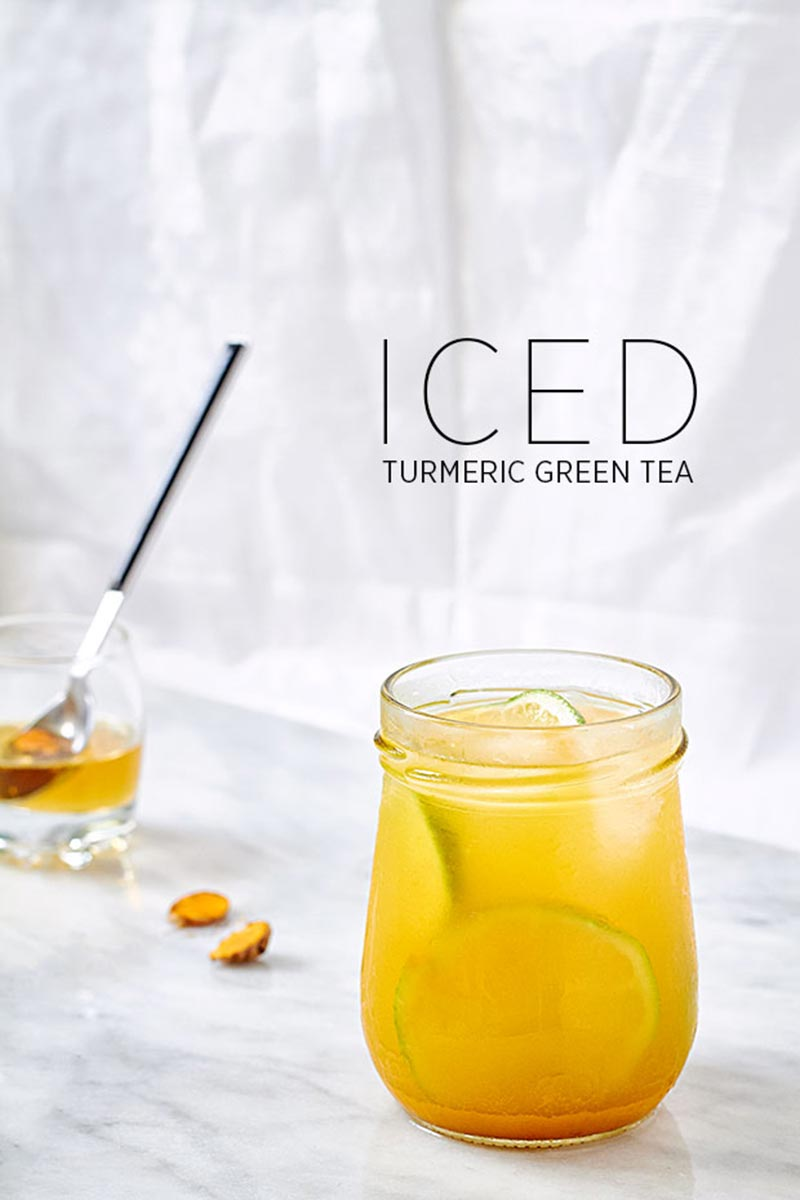Iced Turmeric Green Tea Detox Recipe