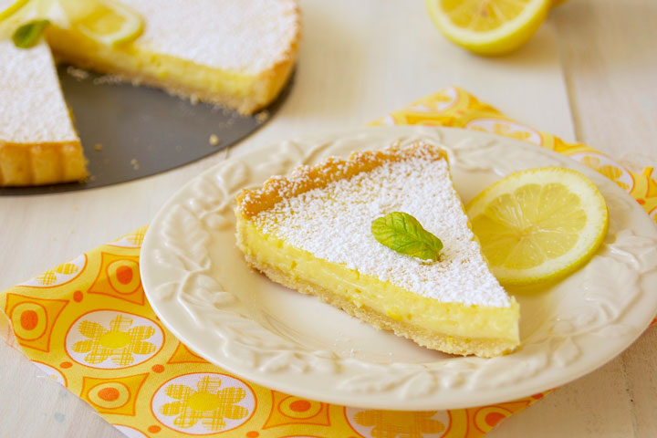 No Bake Lemon Cream Tart