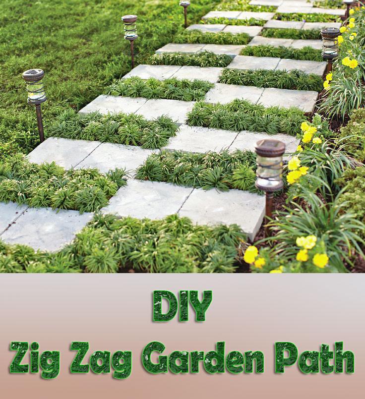 DIY - Zig Zag Garden Path