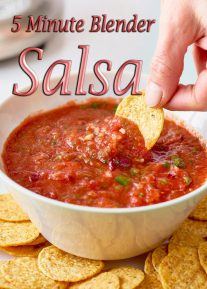 5 Minute Blender Salsa Recipe
