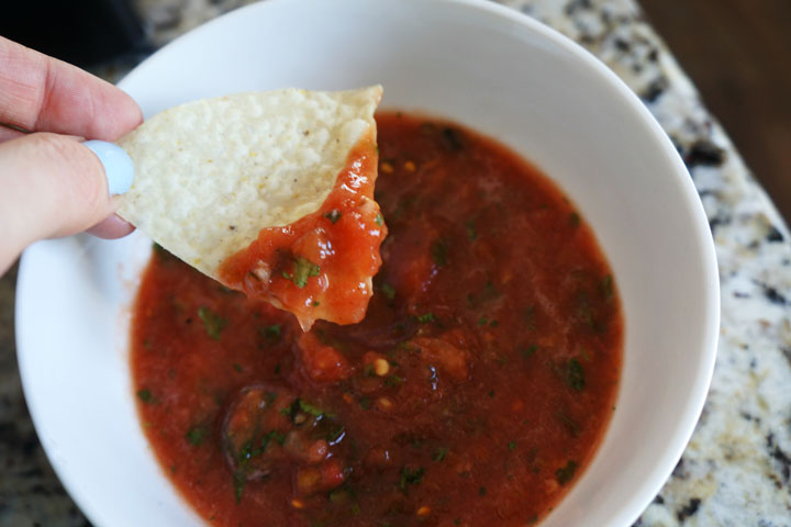 Quiet Corner:5 Minute Blender Salsa Recipe - Quiet Corner