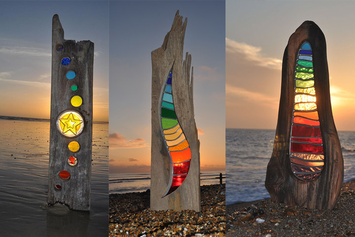 Louise Durham – Turning wood and glass into a piece of art