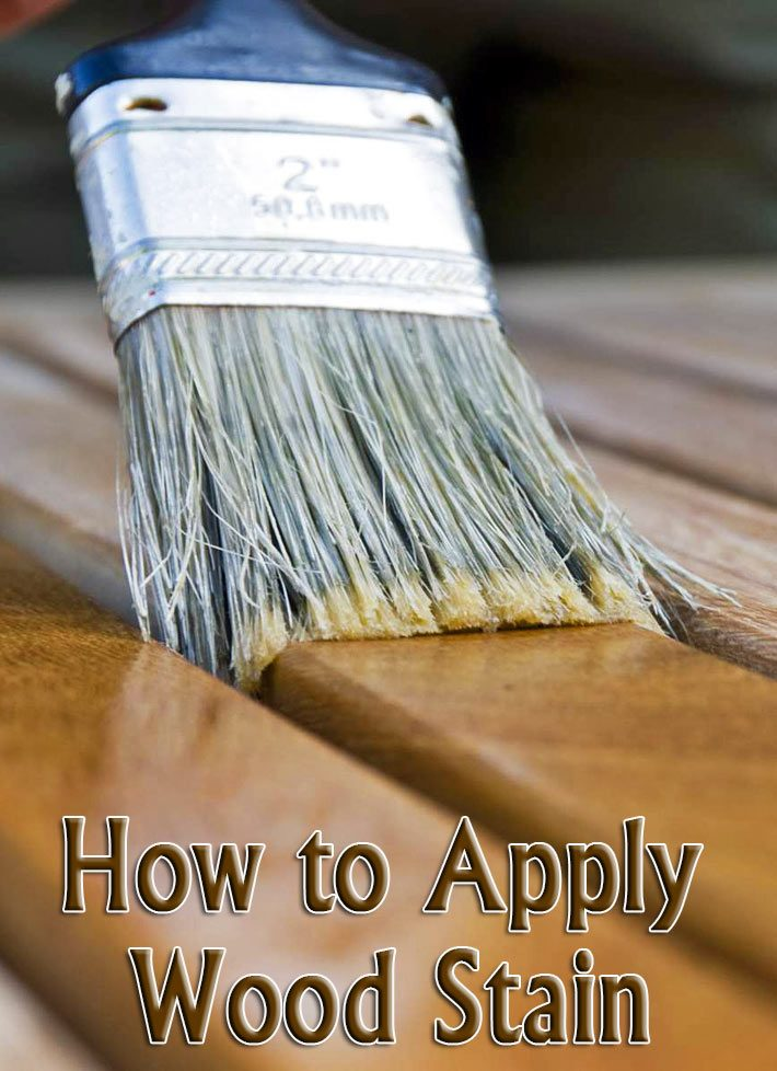 Wood Finishing – How to Apply Wood Stain