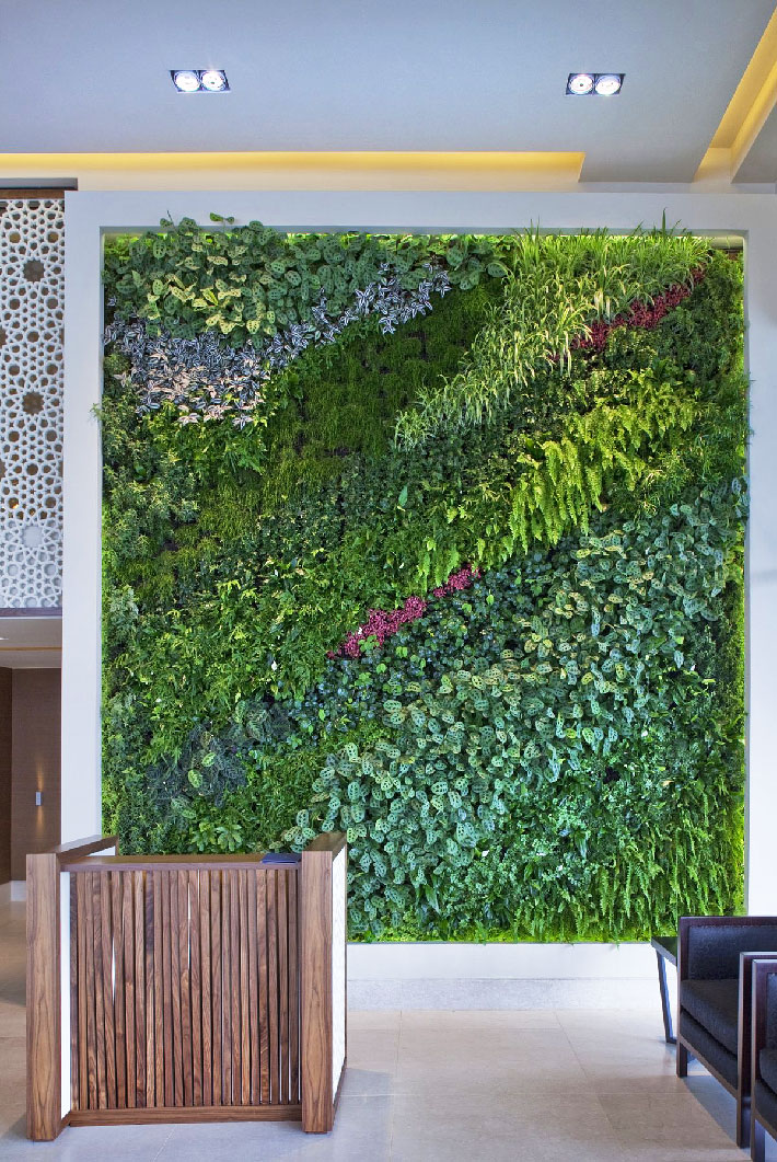 living wall vertical garden benefits quiet corner