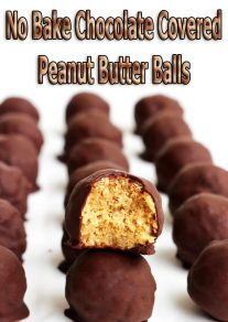 No Bake Chocolate Covered Peanut Butter Balls