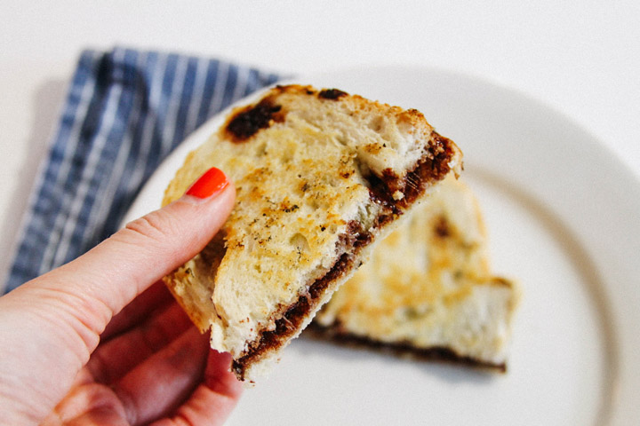 Deviant Dark Chocolate and Parmesan Grilled Cheese Sandwich
