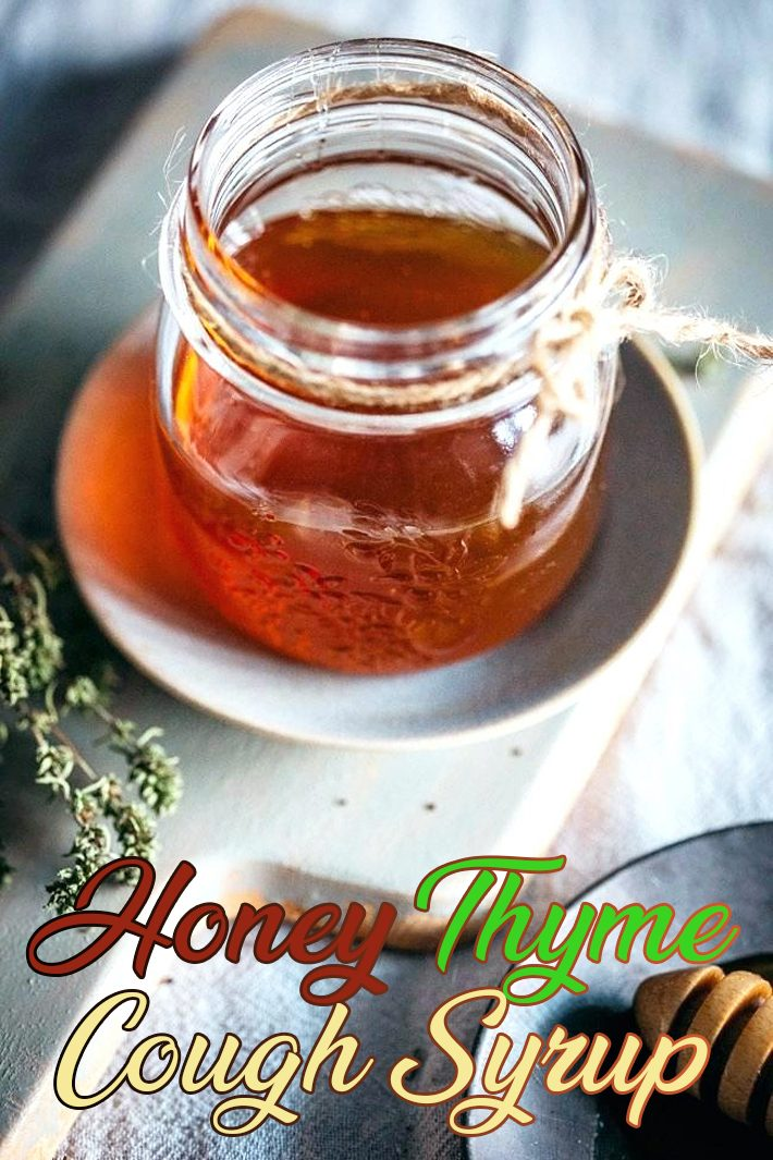 Homemade Cough Syrup With Honey and Thyme