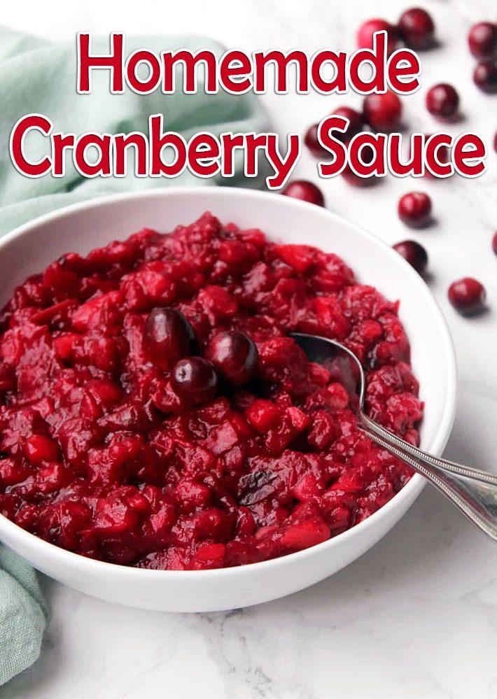 Homemade Cranberry Sauce Recipe