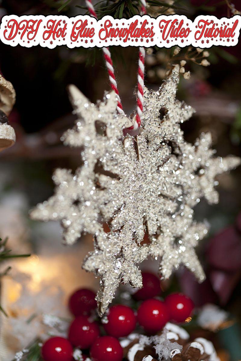 DIY Hot Glue Snowflakes Video Tutorial