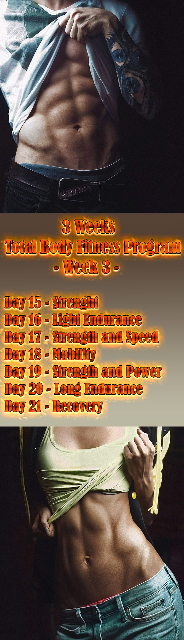3 Weeks Total Body Fitness Program- Week 3