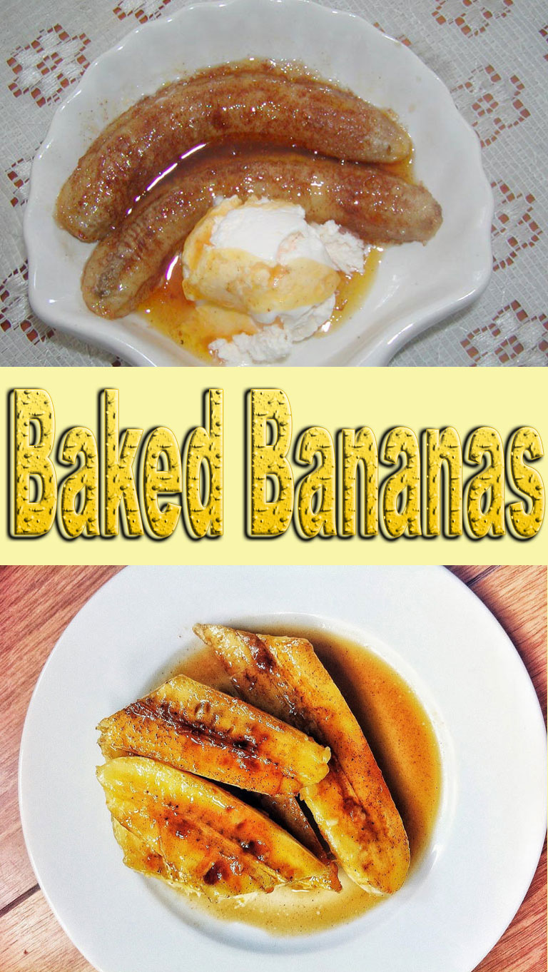 Baked Bananas Recipe