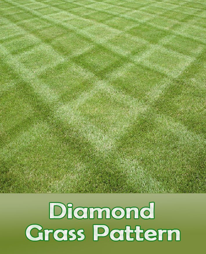 Lawn Mowing Tips – How To Mow a Diamond Grass Pattern