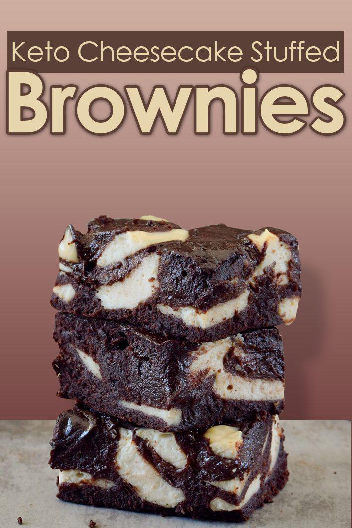 Keto Cheesecake Stuffed Brownies