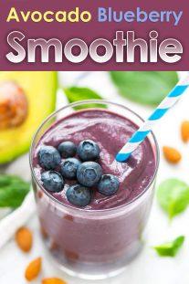 Avocado Blueberry Smoothie
